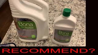 Bona Floor Cleaner & Polish Review - Before & After  Laminate Tile and Granite - 2019 - Is it GOOD?