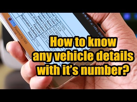 How to know Complete Details of Any Vehicle by its Number in India?