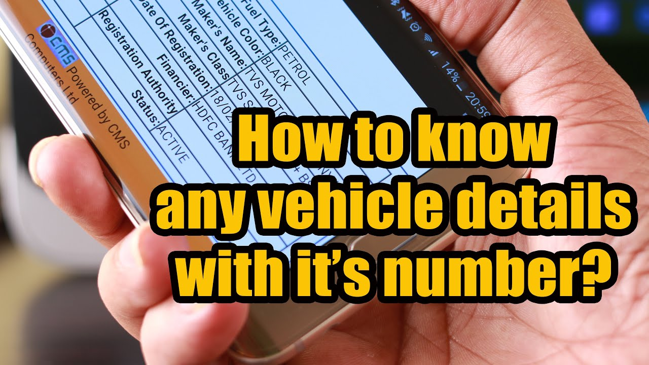 How to know Complete Details of Any Vehicle by its Number in India ...
