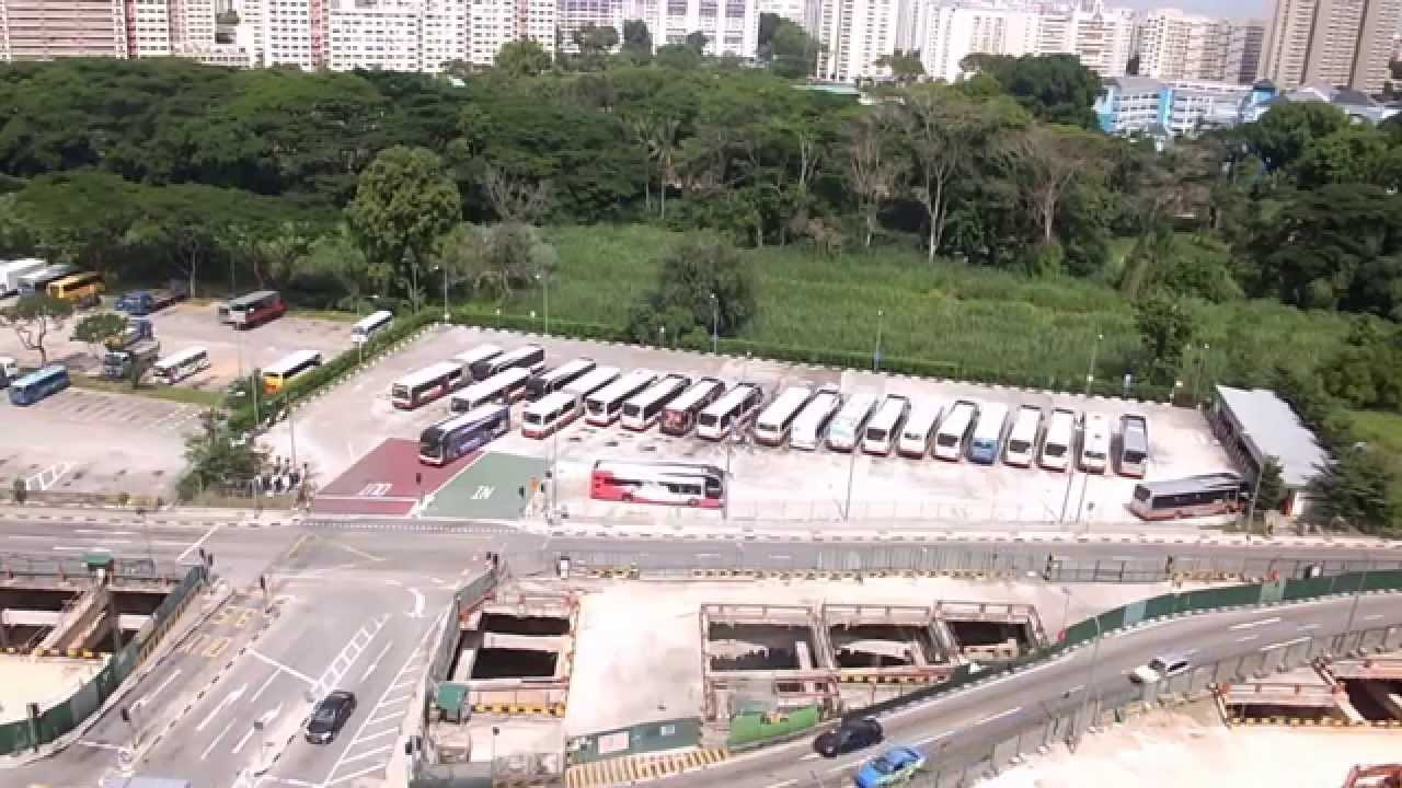 Bukit Panjang Temporary Bus Park 18 06 2014 Youtube