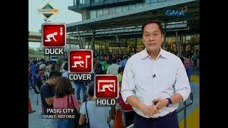 24 Oras: Duck, cover, and hold, huwag kalimutan tuwing may lindol