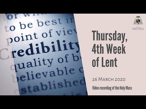 Catholic Weekday Mass Online - Thursday, Week 4 of Lent