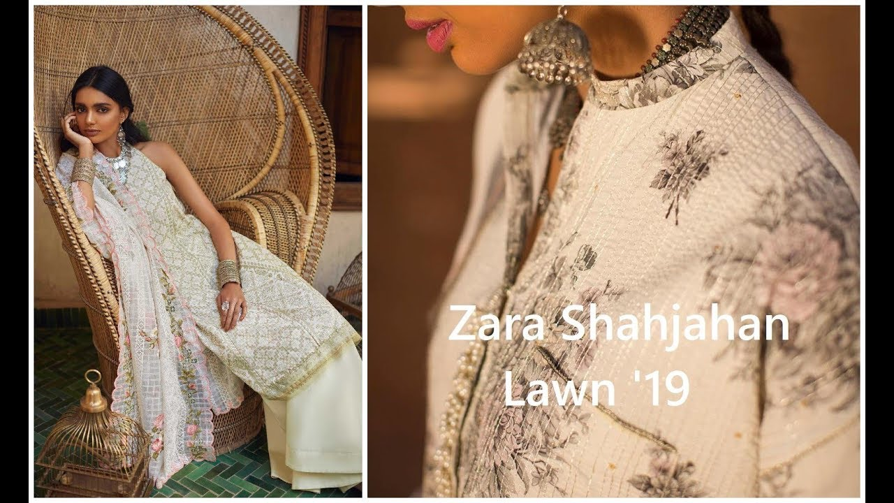 9dc3ee3be0 Zara Shahjahan Embroidered Lawn Unstitched 3 Piece Suit 2019-20 ...