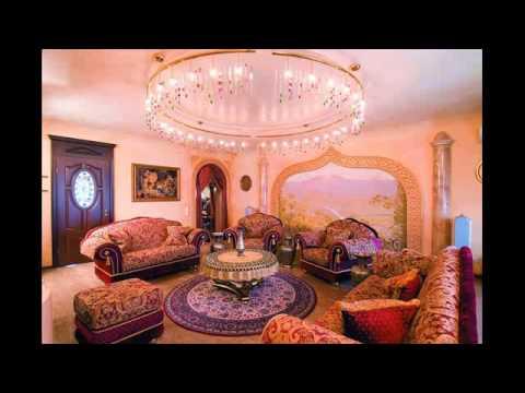 rustic glam living room decor - YouTube