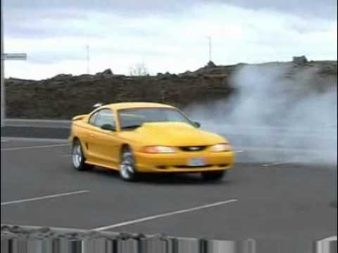 1997 Ford Mustang Cobra Powered Burnout Youtube