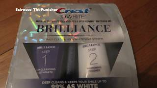 NEW 2019 Crest 3d White Brilliance 2 Step Toothpaste Unboxing