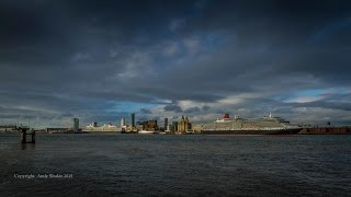 Cunard's Three Queens,  175 Year Anniversary,  Time-lapse