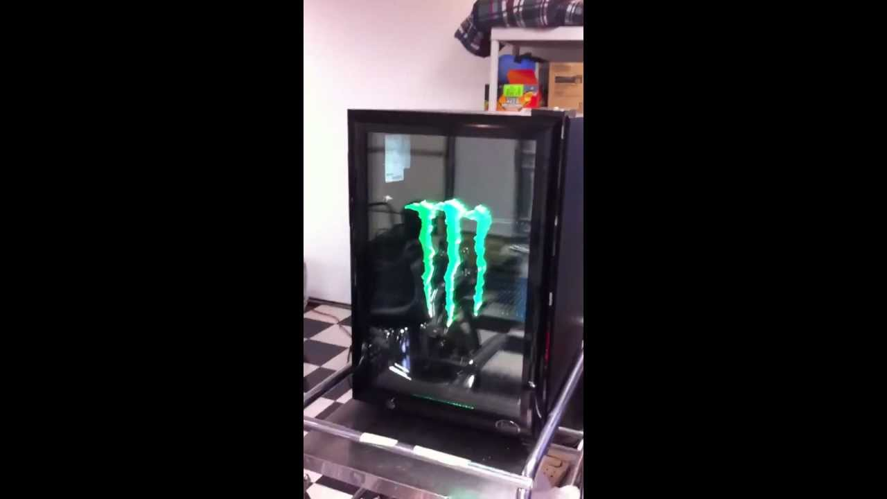 monster energy mini fridge g1 with led door light | Adiklight co