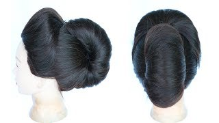 juda hairstyle with puff || wedding hairstyle || juda for special occasion || hairstyle for party