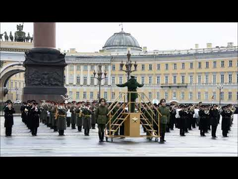 Видео: St.Petersburg Parade Fanfare and Slow march