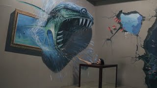 The power of illusion at Art in island 3D museum