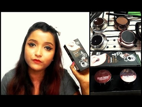 Music Flower 4 in 1 Gel Eye Liner & Eye Brow Powder| Review & Demo | Beauty Infinite