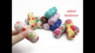 DIY Miniature Doll Mini Bolster Pillow - Very Easy!