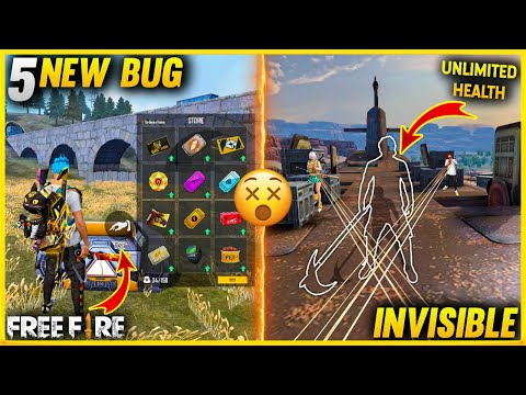 Top 5 New Bug In Free Fire | New Invisible Trick | Unlimited Health Bug | FF After Update New Bug