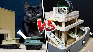 CAT TANK ARMY vs HAMSTER CASTLE