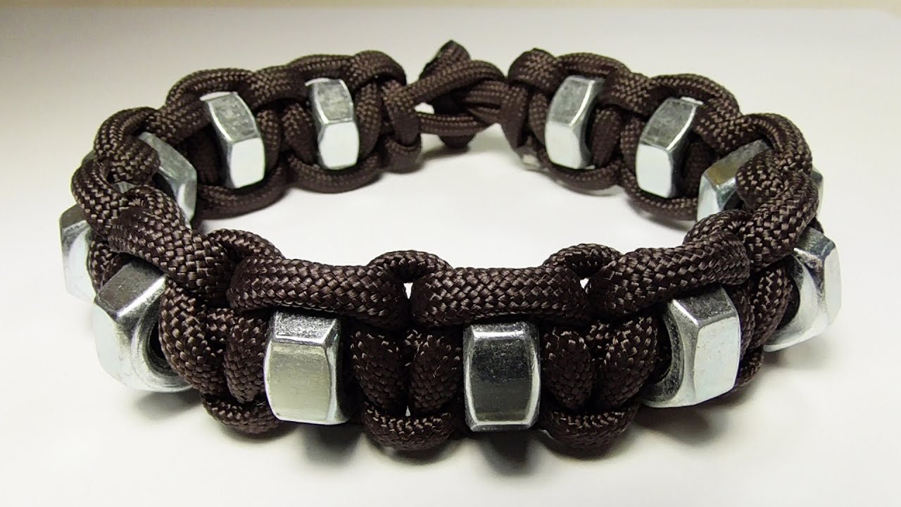 How you can make a simple hex nut paracord survival for What can you make out of paracord