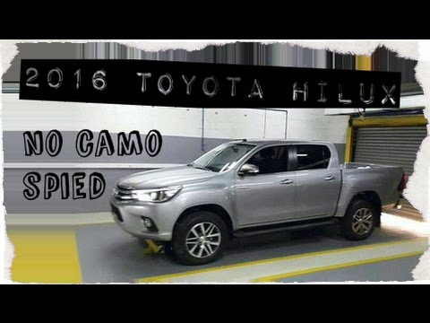 2016 toyota hilux pickup truck, spied completely with no camo
