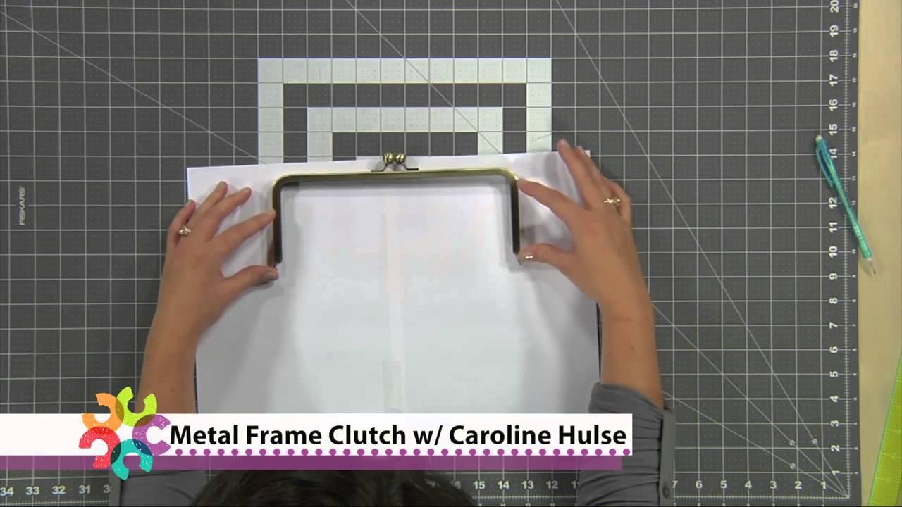 Make A Metal Frame Clutch - YouTube