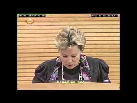 (Alkas.lt, lrs.lt) Seimo narių pasisakymai prieš renkant naują Seimo pirmininka