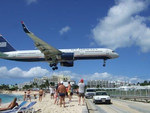 Maho Beach St Maarten - Extreme Plane Spotting and Jet Blasts!