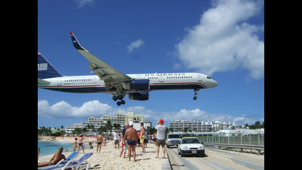 maho beach st maarten - extreme plane spotting and jet blasts! - youtube