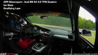 Ian Baas qualifying at VIR in the APR Motorsport Audi B8 S4