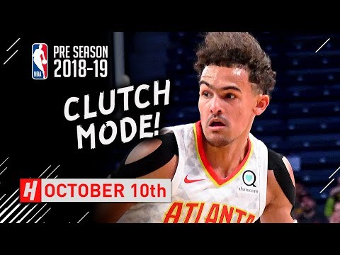 Trae Young CLUTCH Full Highlights Hawks vs Spurs 2018.10.10 - 22 Pts, 7 Ast, GAME-WINNER