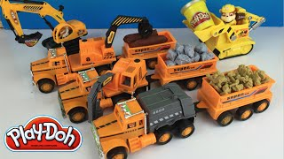 Play Doh fun with Project Truck Mechanism Zone aka Mighty Machines Excavator Bulldozer & Paw Patrol