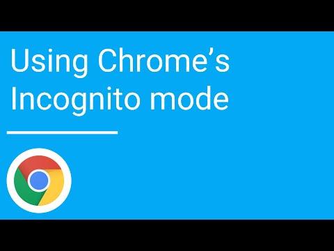 Using Chrome's Incognito mode