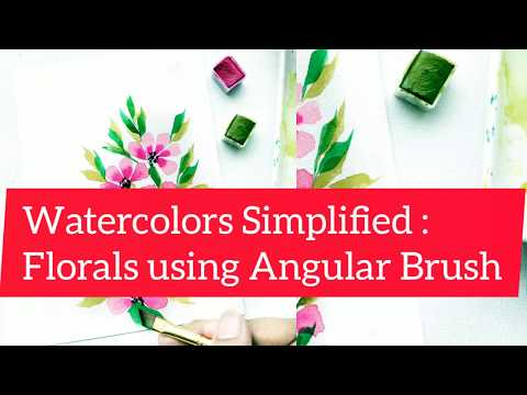 How to paint florals using Angular Brush | Watercolors Simplified thumbnail