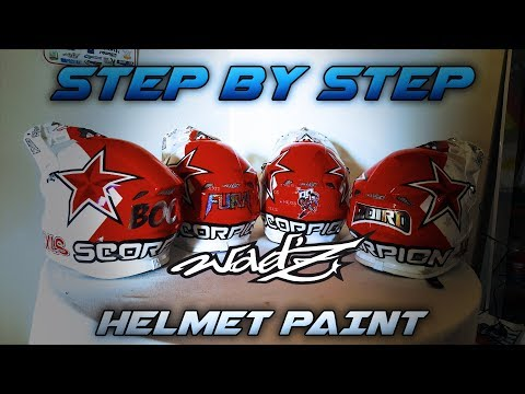 Step By Step Helmet Paint Made By Wadz