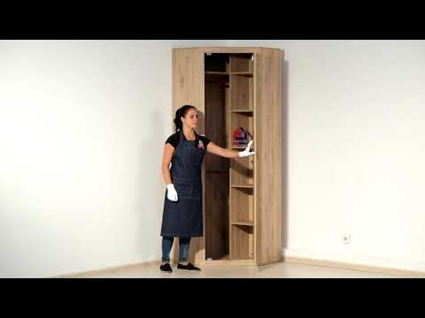 ВидеоОбзор EuroMebel: Шкаф для одежды угловой 1Д (Oskar L/P) , (Беларусь)