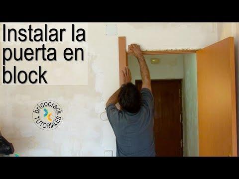 Como instalar una puerta en block doovi for Como poner una puerta de madera