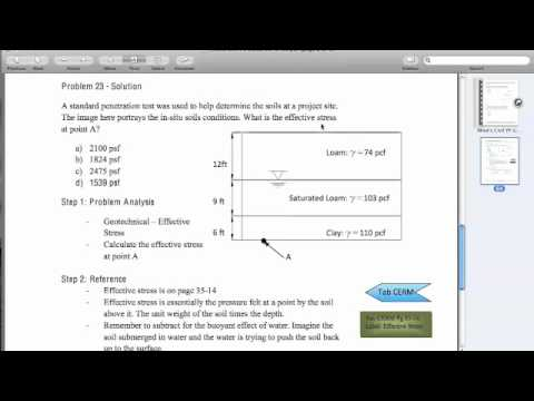 Mikes Civil PE Exam Guide - Free Sample Problem - YouTube