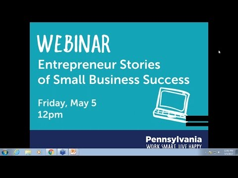5/5/17 Webinar: Entrepreneur Stories of Small Business Succe