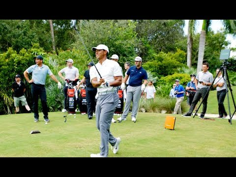 Tiger Woods STINGER CHALLENGE With Team TaylorMade | TaylorMade Golf