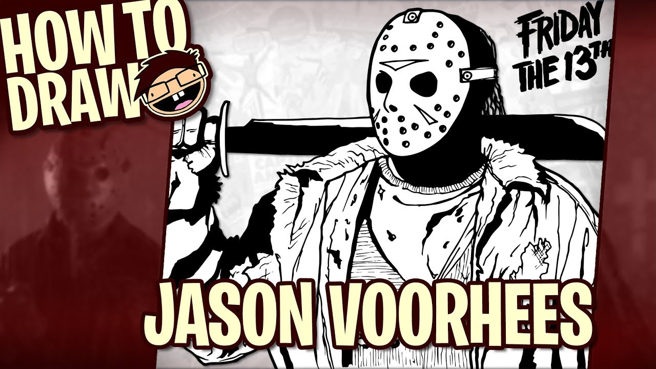 How To Draw Jason Voorhees  Narrated Easy Stepbystep Drawing Tutorial   Happy Halloween!