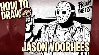 How to Draw JASON VOORHEES | Narrated Easy Step-by-Step Drawing Tutorial | Happy Halloween!