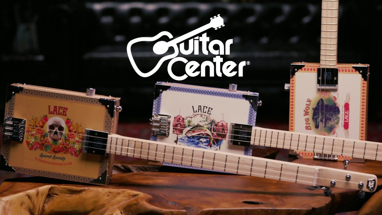 lace electric cigar box guitar guitar center with travis bowlin youtube. Black Bedroom Furniture Sets. Home Design Ideas