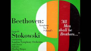 """Leopold Stokowski - Beethoven : Symphony No. 9 in D Minor, Op. 125 (""""Choral"""") 1st movement"""