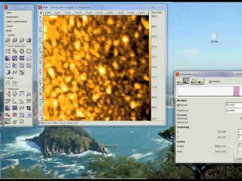 AFM SPM for absolute Beginners - Free Software Gwyddion - Tutorial Part 3/9