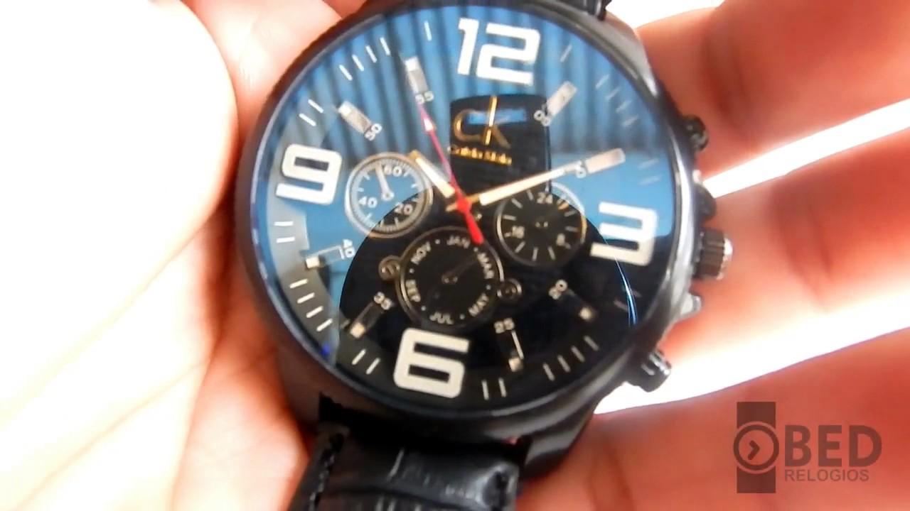 f9967df3f Relógio CK masculino Luxo ótima qualidade - YouTube