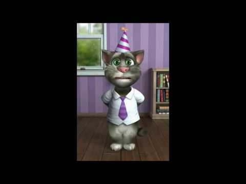 TALKING TOM CAT SINGS HAPPY BIRTHDAY TO BARRY