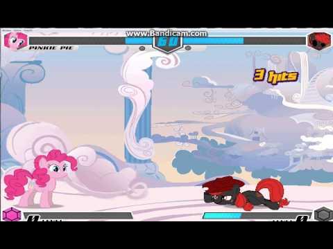 Fighting Is Magic Pinkie Pie Vs Vinyl Scratch And