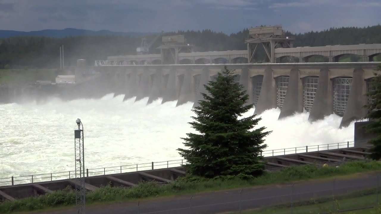 The Spillway at Bonneville Hydroelectric Power Station on the