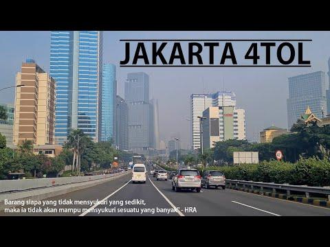 Driving at 4 Toll Road Around JAKARTA : JORR [Outer Ring Road] - Jagorawi - Inner Ring Road - Janger