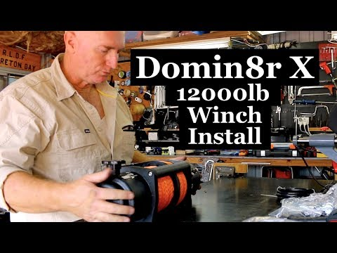How to Install a winch, Domin8r X 12000lb, Isuzu Dmax.