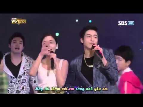 [SHININGSMILE][VIETSUB] I Love You - Lee Hyunwoo w/ Yoon Jinyi (SBS Drama Awards 2012)