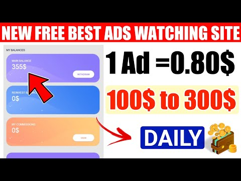 Earn Daily 100$ To 300$ By Watching Ads |New High Paying Ads Clicking Site - Earn 0.80$ Per Ad