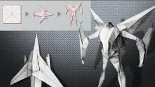 How to make origami paper transformer (starscream)